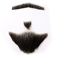 Neitsi 100% Human Hair Full Hand Tied Fake Mustache Beard Holloween Makeup Beard