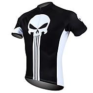 hesapli -ILPALADINO Erkek Kısa Kollu Bisiklet Forması - Siyah / Beyaz Kuru Kafalar Bisiklet Forma, Hızlı Kuruma, Ultravioleye Karşı Dayanıklı,