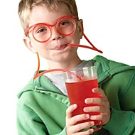 2db szemüveg szalma vicces lágy szemüveg szalma egyedi rugalmas ivócső gyerekek szalmak bar accesso (véletlenszerű színű)