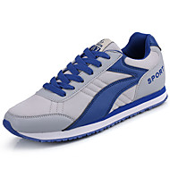 Men's Athletic Shoes Comfort Spring Fall Tulle Walking Shoes Casual Lace-up Flat Heel Dark Grey Royal Blue 2in-2 3/4in