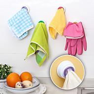 4pc sett vaske klut klippe henger sugerholder dishclout oppbevaring rack bad kjøkken oppbevaring håndkle krok