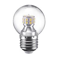 billige Globepærer med LED-3W 250 lm E27 LED-globepærer G45 24 leds SMD 2835 Varm hvit Kjølig hvit 220V