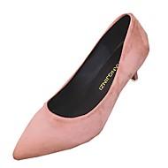 baratos Sapatos Femininos-Mulheres Sapatos Couro Ecológico Primavera / Outono Solados com Luzes Saltos Salto Sabrina Dedo Apontado Bege / Cinzento / Rosa claro