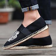 baratos Sapatos Masculinos-Homens sapatos Tecido Primavera Outono Conforto Tênis para Casual Dourado Bege Verde