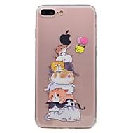 billiga Mobil cases & Skärmskydd-fodral Till Apple iPhone 7 / iPhone 7 Plus Genomskinlig / Mönster Skal Katt Mjukt TPU för iPhone 7 Plus / iPhone 7 / iPhone 6s Plus