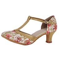 billige Moderne sko-Dame Moderne sko Kustomiserte materialer Høye hæler Kustomisert hæl Kan spesialtilpasses Dansesko Rød / Innendørs