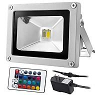 baratos Focos-1pç 10 W Focos de LED Controlado remotamente / Regulável / Decorativa RGB + quente / RGB + Branco 85-265 V Iluminação Externa / Pátio / Jardim
