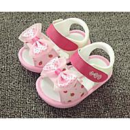 女の子 サンダル コンフォートシューズ 赤ちゃん用靴 レザーレット 夏 カジュアル パープル グリーン ピンク フラット