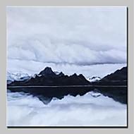 billiga Landskapsmålningar-Hang målad oljemålning HANDMÅLAD - Landskap Abstrakt Moderna Duk