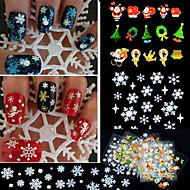 24 Adesivos para Manicure Artística Other maquiagem Cosméticos Designs para Manicure