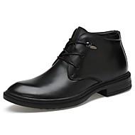 Miehet Bootsit muodollinen Kengät Sukelluskengät Fluff Vuori Comfort Nilkkuri Kevät Talvi Aitoa nahkaa Nahka Nappanahka Kausaliteetti