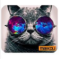Maikou mouse pad gato usa óculos pc mat computador fornecimento acessório