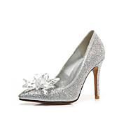 baratos Sapatos de Tamanho Pequeno-Mulheres Sapatos Gliter / Materiais Customizados Primavera / Outono Inovador / Plataforma Básica / Sapatos para Daminhas de Honra Sapatos