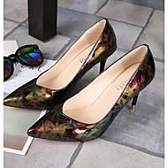 baratos Sapatos Femininos-Mulheres Sapatos Couro Ecológico Verão Plataforma Básica Saltos Salto Agulha Dedo Apontado Fúcsia / Azul / Social