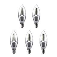 billige Stearinlyslamper med LED-3W 240 lm E14 LED-lysestakepærer C35 25 leds SMD 2835 Varm hvit Kjølig hvit 220V