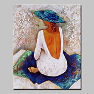 Peint à la main Personnage Format Vertical,Abstrait Moderne Un Panneau Toile Peinture à l'huile Hang-peint For Décoration d'intérieur