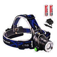 Headlamps Headlight LED 3000 lumens lm 3 Mode Cree XM-L2 T6 Zoomable for Camping/Hiking/Caving Everyday Use Cycling/Bike Hunting Fishing