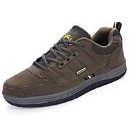 Masculino sapatos Couro Ecológico Primavera Outono Conforto Tênis Aventura Cadarço Para Preto Marron Verde Tropa