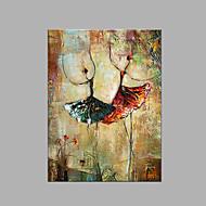 halpa -Maalattu Abstrakti Pysty,Taiteellinen 1 paneeli Kanvas Hang-Painted öljymaalaus For Kodinsisustus
