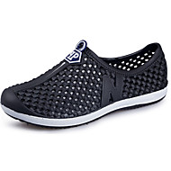 Men's Sandals Comfort Summer PU Outdoor Black Gray Blue Blushing Pink Royal Blue Flat