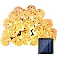 お買い得  LEDライトストリップ-HKV 6m ストリングライト 30 LED 温白色 / ホワイト 防水 5 V / IP65
