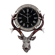 LightMyself Modern/Contemporary Traditional Country Casual Retro Animal Wall ClockElk Animal Resin Indoor Clock