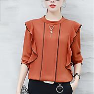 billige Overdele til damer-Dame - Ensfarvet Drapering Gade I-byen-tøj Bluse