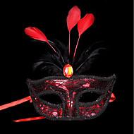1kpl pieni hattu hiusnauha halloween puku puolue tasainen kulta hopea naamiointi naamio sulka maalaus maski osapuolen väri satunnainen