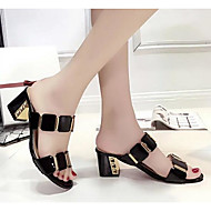 Women's Sandals Comfort Summer PU Casual Black White 2in-2 3/4in