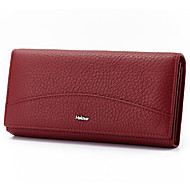 Unisex Bags Summer Winter All Seasons Cowhide Wallet for Event/Party Casual Sports Formal Black Dark Red