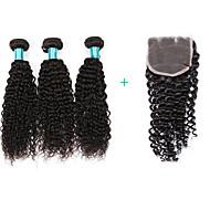 Bundle Hair Brasilialainen perverssi 1 vuosi 4 hiukset kutoo kg Nopeat irtohiukset