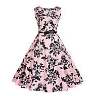 Mulheres Para Noite Vintage / Moda de Rua Bainha Vestido Floral Acima do Joelho / Primavera / Verão