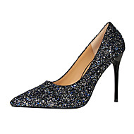 cheap Women's Heels-Women's Shoes Glitter Spring Summer Comfort Novelty Heels Walking Shoes Stiletto Heel Pointed Toe Sequin for Wedding Party & Evening