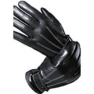 Herre Håndledslængde Fingerspidser Handsker - Pels Ensfarvet