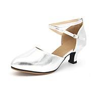 billige Moderne sko-Dame Moderne Syntetisk Mikrofiber PU Sandaler Utendørs Lav hæl Gull Sølv Kan spesialtilpasses