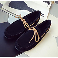 Women's Flats Comfort Spring Real Leather PU Casual Black Gray Camel Flat
