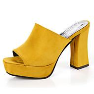 Feminino Sapatos Couro Ecológico Verão Conforto Sandálias Para Casual Preto Amarelo Verde Tropa