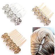 קריסטל / סגסוגת מסרקים / ביגוד לראש / מקל שיער עם פרחוני 1pc חתונה / אירוע מיוחד / יוֹם הַשָׁנָה כיסוי ראש
