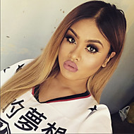 Fashion Ombre T1B/4/27 Straight Style Glueless Lace Front Wigs With Baby Hair 100% Brazilian Virgin Hair Wigs for Black Woman