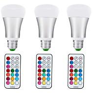 billige Globepærer med LED-10W 1000 lm E27 LED-globepærer A70 1 leds COB Mulighet for demping Dekorativ RGB + Varm AC85-265