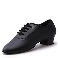 Χαμηλού Κόστους Παπούτσια χορού-Παιδικό Λάτιν Δερματίνη Τακούνια Για εσωτερικούς χώρους Κουβανικό Τακούνι Μαύρο 1,18 ίντσες (3εκ)