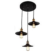 halpa -Vintage teollinen metalli riipusvalaisin kolmella valolla kattokruunu olohuone ruokailuhuone valaisin