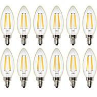 4W LED Filament Bulbs C35 4 leds COB Dimmable Decorative Warm White 400lm 2700K AC 220-240 AC 110-130V