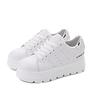 Women's Shoes Breathable Mesh PU Summer Comfort Sneakers For Casual White Black Red
