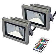 cheap LED Flood Lights-JIAWEN 10W LED Floodlight Remote-Controlled Outdoor Lighting RGB AC85-265