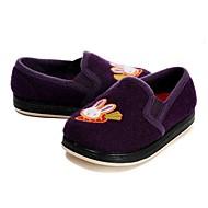 tanie Obuwie dziewczęce-Dla dziewczynek Buty Wyczeski Zima Jesień Wulkanizowane buty Mokasyny i pantofle Haft nakładany Gore na Casual Formalne spotkania Purple