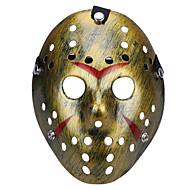 halloween poreus jason moordenaar masker oud vervaagd vintage zilver horror hockey cosplay carnaval maskerade party kostuum prop