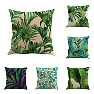 Set Of 6 Creative Tropical Plant Printing Pillow Case Classic Sofa Cushion Cover Home Decor Pillow Cover