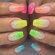 cheap Nail Glitter-1set / 12pcs Glitter Powder 12 Colors nail art Manicure Pedicure Elegant & Luxurious / Sparkle & Shine / Nail Glitter