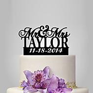 Kagedekorationer Klassisk Tema Bryllup Plast Bryllup med 1 Polyester Taske